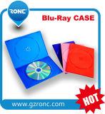 singola DVD cassa trasparente blu di 10mm