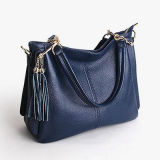 Il gemello della borsa del cuoio genuino del sacchetto di modo delle donne tratta i sacchetti Emg4716