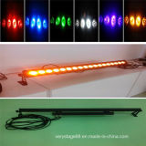 LED18X15W impermeabilizan la iluminación ULTRAVIOLETA de la etapa 6in1 de la arandela Lwb-6-1815 RGBWA de la pared
