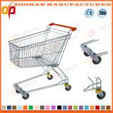 Niedriger Preis-Draht-Metallsupermarkt-Einkaufen-Laufkatze mit Sitz (ZHt249)