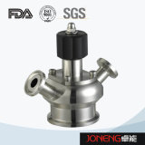 Valvola premuta asettica sanitaria del campione dell'acciaio inossidabile (JN-SPV1009)