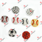 Fans Bracelet Gift (SC111)를 위한 도매 Alloy Metal Sports Ball Beads Slide Charms