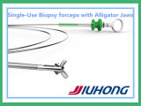 Disposable pediatrico Biopsy Forceps con Alligator (coccodrillo) Teeth Jaws
