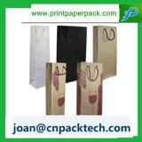 Papier d'art de Perspnalized pour le souvenir avec le sac de traitement de corde de coton