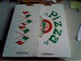 Caixa natural da pizza do cartão do olhar (GD33265)