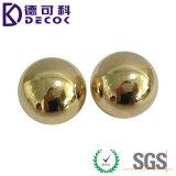 Decoración inoxidable de la esfera de la bola de acero de la bola hueco de cobre amarillo C26000 grande