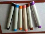 Feuille de traitement au four colorée de silicones de catégorie comestible de bord