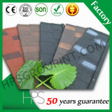 Bardeaux colorés de toit en métal/tuile de toit en acier enduite pierre de couleur