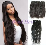 "18 ""7A Natural Wave Remy Brazilian Virgin Human Hair Weft"