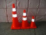 segurança do verde de cal 36inch e cones alaranjados do tráfego