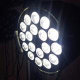 Indicatore luminoso dell'interno di PARITÀ LED RGB IP65 Rgbwauv della discoteca del DJ della fase 18X18W