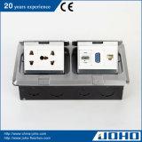 IP44 impermeabilizzano il piatto di pavimento di alluminio con il doppio dello zoccolo schioccano in su il CE TUV dello zoccolo della Tabella e del tipo