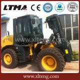 Ltma Forklift Diesel de 10 toneladas que trabalha na condição do terreno áspero