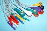 Patienten-Überwachungsgerät LÄRM Holter Snap&Klipp 10 Kabel des Leitungsdraht-ECG