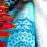Polyester 100% gedruckte Raschel Kind-Baby Microfiber korallenrote Vlies-Zudecken