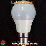 Cubierta plástica de la lámpara del bulbo de 5 vatios LED para A50
