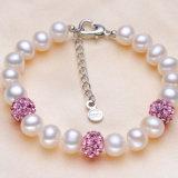 L'eau doux populaire du bracelet 8-9mm D.C.A. de perle de bracelet véritable de perle perle le bracelet