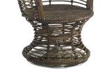 Мебели гостиницы PE-Ротанга верхнего качества стул удобной Wicker ротатабельный при установленный журнальный стол (YT832)