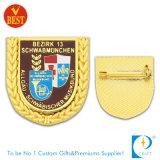 Kundenspezifisches Goldmetallandenken-Abzeichen mit weichem Decklack (JN-B29)
