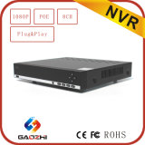 rede DVR do CCTV de 2MP 1080P 8channel com H. 264 P2p Onvif