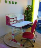 Projetos de mesa de estudo de madeira inclinável Mesa de crianças com armário de livros