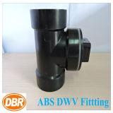 ABS Dwv размера 2 дюймов приспосабливая тройник Cleanout с штепсельной вилкой
