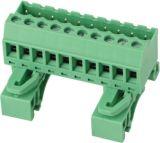 Insteek EindBlok met het Spoor van DIN (wJ2EDGURKM-5.0/5.08mm)