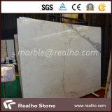 Pietra di marmo bianca della lastra Polished superiore per la decorazione della parete