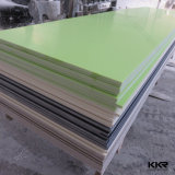 surface solide acrylique blanche de Corian de glacier de 12mm pour la bordure de baquet (V70109)