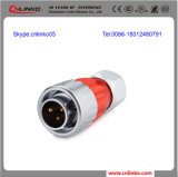 3 Pin를 가진 원형 Cable Power Waterproof Connector M20