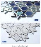 Застекленная снежинка стены конструкции Bluwhale новая Льд-Потрескивает плитка мозаики