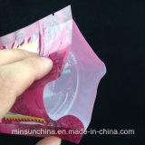 Levar in piedi il sacchetto in su stampato dell'alimento per animali domestici con la chiusura lampo