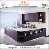N u. L purpurroter moderner Küche-Schrank stellten die 2 Satz-Küche-Schrank ein