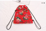 Nueva lona retra de Britan y morral floral de los bolsos del hombro del PVC (CK007-004)