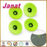 De glanzende Groene Aangepaste Knoop van de Kopspijker van de Jeans van het Messing van het Embleem