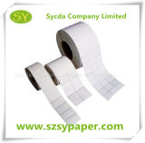 Papier pour étiquettes auto-adhésif enduit de moulage