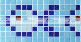 die 20X20mm Fische konzipieren heiße Schmelzglasrand-Mosaik-Fliese (BGEB003)