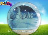 De opblaasbare Tent van de Bol van de Sneeuw voor Kerstmis