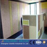 El panel acústico casero de las lanas de madera de la decoración