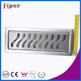 Dreno de assoalho linear longo do banheiro do aço inoxidável de Fyeer (FD15020)