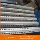 Aménagement encoché réglable de cornière d'entrepôt de structure métallique