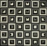 Mezclado del azulejo en color acero inoxidable y del mosaico (FYMF8014)