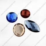 Grânulos de pedra de vidro frouxos coloridos de Navette do corte de máquina