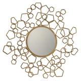 Specchio decorativo della parete incorniciato metallo rotondo creativo/blocco per grafici antico dello specchio dell'oro