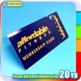 ショッピングモールの1枚の主札が付いているプラスチック忠誠のカード