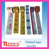 Insignia Printed BOPP Material Packing Tape para Commodity Bindg