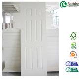 Puerta blanca moldeada HDF moderna de la pintura de fondo de la puerta del diseño