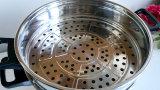 Bac et poêle à frire antiadhésifs électriques de vapeur de vaisselle de cuisine d'acier inoxydable