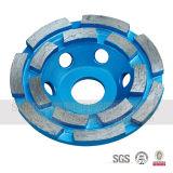 Roda de moedura do copo do diamante reto baixo de alumínio de Turbo para o concreto de pedra