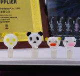 Accesorios que fuman vendedores calientes de la pipa de cristal del diseño de la panda que fuman el tazón de fuente de cristal